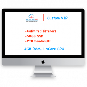 Internet Radio cast on VPS Custom VIP Package
