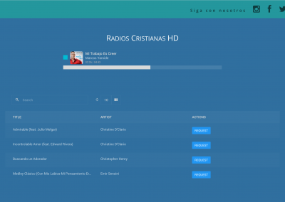 AzuraCast's web player and song request iFrame