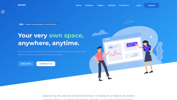 Web development - WHMCS theme